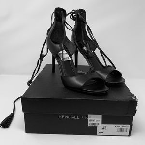KENDALL + KYLI Lace up Black pump heels